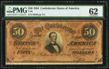 Confederate Notes:1864 Issues, T66 $50 1864 PF-1 Cr. 495 PMG Uncirculated 62.. ...