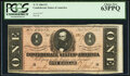 Confederate Notes:1864 Issues, T71 $1 1864 PF-4 Cr. 577 PCGS Choice New 63PPQ.