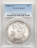 Morgan Dollars, 1885-CC $1 MS63 PCGS. PCGS Population: (6146/14393). NGC Census: (3267/6392). CDN: $565 Whsle. Bid for NGC/PCGS MS63. Minta...