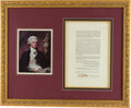 Autographs:U.S. Presidents, Thomas Jefferson Act of Congress Signed ...