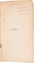 Books:Signed Editions, Clement C. Moore Inscribed Copy of Poems....