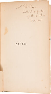 Clement C. Moore Inscribed Copy of Poems