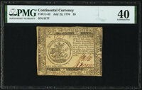 Continental Currency July 22, 1776 $5 PMG Extremely Fine 40