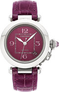 Estate Jewelry:Watches, Cartier Lady's Stainless Steel Automatic Pasha de Cartier Watch. ...