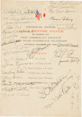 Baseball Collectibles:Others, 1934 Tour of Japan Team Signed Menu from The Jimmie Foxx Collection....
