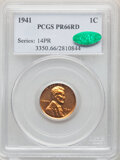 Proof Lincoln Cents, 1941 1C PR66 Red PCGS. CAC. PCGS Population: (267/13). NGC Census: (135/17). CDN: $350 Whsle. Bid for NGC/PCGS PR66. Mintag...