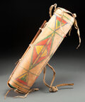 American Indian Art:Pipes, Tools, and Weapons, A Crow Painted Parfleche Case c. 1870 w...