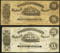 T9 $20 1861 PF-13 Cr. 33 Fine; T9 $20 1861 PF-6 Cr. 28 Fine; ... (Total: 2 notes)