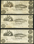 T28 $10 1861 PF-10 Cr. 236B Three Examples Fine-Very Fine. ... (Total: 3 notes)