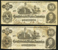 Confederate Notes:1862 Issues, T46 $10 1862 PF-2 Cr. 343. Fine-Very Fine. T46 $10 1862 PF-2 Cr. 343. Fine.. ... (Total: 2 notes)