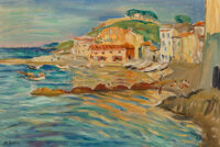 Charles Camoin (French, 1879-1965) Vue de Saint-Tropez Oil on canvas 21-1/2 x 32 inches (54.6 x