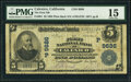 Calexico, CA - $5 1902 Plain Back Fr. 601 The First National Bank Ch. # (P)9686 PMG Choice Fine 15