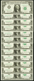 Complete District Set Fr. 1900-A-L $1 1963 Federal Reserve Notes. Twelve Examples. Choice Crisp Uncirculated. ... (Total...