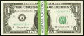 Complete Block Set Fr. 1900-A-L* $1 1963 Federal Reserve Notes. Thirty-Four Examples. Choice Crisp Uncirculated. ... (To...