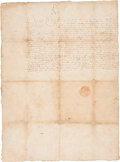 Autographs:Non-American, [Mary Stuart]. Mary Queen of Scots Document Signed ...
