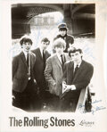 Music Memorabilia:Autographs and Signed Items, The Rolling Stones Signed Early Promo Photo....