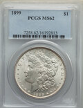 Morgan Dollars: , 1899 $1 MS62 PCGS. PCGS Population: (1925/11399). NGC Census: (1569/7339). CDN: $250 Whsle. Bid for NGC/PCGS MS62. Mintage ...