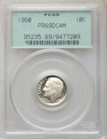 Proof Roosevelt Dimes, 1960 10C PR69 Deep Cameo PCGS. PCGS Population: (133/0). NGC Census: (115/0). PR69. . From The Maltese Collection....