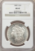 Morgan Dollars: , 1885-S $1 MS62 NGC. NGC Census: (1254/3433). PCGS Population: (2216/7026). CDN: $260 Whsle. Bid for NGC/PCGS MS62. Mintage ...