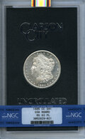 GSA Dollars, 1885-CC $1 GSA MS63 Prooflike NGC. With original box. NGC Census: (154/172). PCGS Population: (5/13). MS63. Mintage 228,000...