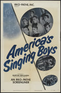 "Movie Posters:Short Subject, RKO Screenliner (RKO, 1951). One Sheet (27"" X 41"") ""America'sSinging Boys."" Short Subject...."