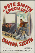 "Movie Posters:Short Subject, A Pete Smith Specialty (MGM, 1950). One Sheet (27"" X 41"") ""CameraSleuth."" Short Subject...."