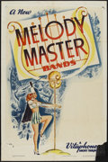 "Movie Posters:Short Subject, Melody Master Bands (Warner Brothers, 1936). Stock One Sheet (27"" X41""). Musical Short Subject...."