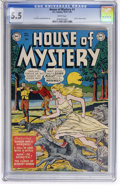 Golden Age (1938-1955):Horror, House of Mystery #1 (DC, 1952) CGC FN- 5.5 White pages....