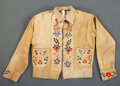 American Indian Art:Beadwork and Quillwork, A Cree Man's Beaded Hide Shirt...