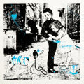 Prints & Multiples, Mr. Brainwash (b. 1966). Pup Art (Blue), 2012. Screenprint in colors with stencil and hand-embellishments on Archival Ar...