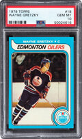 Hockey Cards:Singles (1970-Now), 1979 Topps Wayne Gretzky #18 Rookie PSA Gem Mint 10--Population Two!...