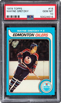 1979 Topps Wayne Gretzky #18 Rookie PSA Gem Mint 10--Population Two!