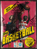Basketball Cards:Unopened Packs/Display Boxes, 1981 Topps Basketball Wax Box With 36 Unopened Packs. ...