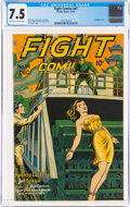 Golden Age (1938-1955):Adventure, Fight Comics #41 (Fiction House, 1945) CGC VF- 7.5 Off-white to white pages....