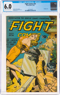 Fight Comics #34 (Fiction House, 1944) CGC FN 6.0 Cream to off-white pages
