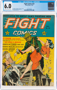 Fight Comics #22 (Fiction House, 1942) CGC FN 6.0 Cream to off-white pages