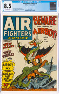 Golden Age (1938-1955):Adventure, Air Fighters Comics #5 (Hillman Fall, 1943) CGC VF+ 8.5 Off-white pages....