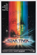 Movie/TV Memorabilia:Autographs and Signed Items, Star Trek: The Motion Picture Cast Signed Poster....