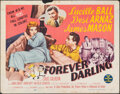 "Movie Posters:Comedy, Forever Darling & Other Lot (MGM, 1956). Rolled, Fine+. Half Sheets (3) (22"" X 28"") Style B. Comedy.. ... (Total: 3 Items)"