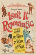 "Movie Posters:Comedy, Isn't It Romantic (Paramount, 1948). Folded, Fine/Very Fine. One Sheet (27"" X 41""). Comedy.. ..."