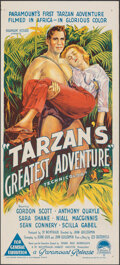 "Movie Posters:Adventure, Tarzan's Greatest Adventure (Paramount, 1959). Folded, Overall: Fine/Very Fine. Australian Daybill (13"" X 30"") & One Sheet (... (Total: 2 Items)"