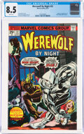Bronze Age (1970-1979):Horror, Werewolf by Night #32 (Marvel, 1975) CGC VF+ 8.5 White pages....