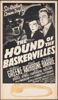 """Movie Posters:Mystery, The Hound of the Baskervilles (20th Century Fox, R-1970s). Fine+. Window Card (12.75"""" X 21.75""""). Mystery.. ..."""