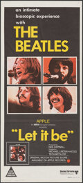 """Movie Posters:Rock and Roll, Let It Be (United Artists, 1970). Folded, Very Fine+. Australian Daybill (13"""" X 30""""). Rock and Roll.. ..."""