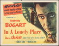 """Movie Posters:Film Noir, In a Lonely Place (Columbia, 1950). Folded, Fine/Very Fine. Half Sheet (22"""" X 28"""") Style A. Film Noir.. ..."""