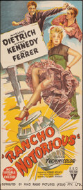 "Movie Posters:Western, Rancho Notorious (RKO, 1952). Rolled, Very Fine+. Australian Daybill (13"" X 30""). Western.. ..."