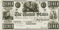 United States - Act of October 12, 1837 $100 __% One-Year Treasury Note. Hessler X99C. Face Proof. PMG Choice Uncirculat...