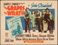 """Movie Posters:Drama, The Grapes of Wrath (20th Century Fox, R-1956). Rolled, Fine/Very Fine. Half Sheet (22"""" X 28""""). Drama.. ..."""