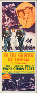 """Movie Posters:War, To the Shores of Tripoli (20th Century Fox, R-1952). Rolled, Very Fine+. Insert (14"""" X 36""""). War.. ..."""