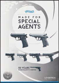 "Walther - Made for Special Agents (Umarex, c.2012). Rolled, Very Fine+. Advertising Poster (16.5"" X 23.25""). J..."